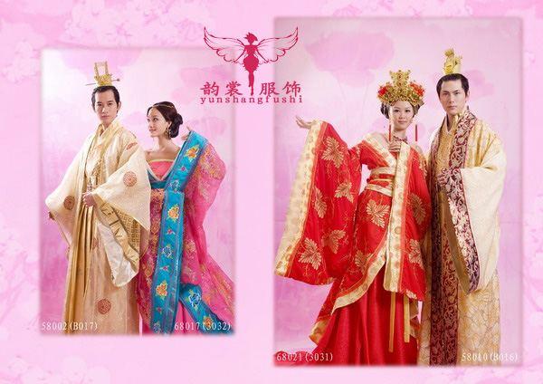 影楼古装汉服婚礼服装出售,订做,批发15920123628 yunshang6688图片