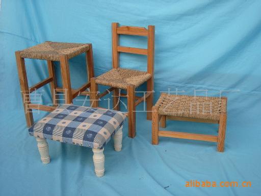 供应木板凳 木椅子 草编凳子 工艺品凳子 木制家居用品批发采