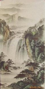 批发零售国画、工笔山水画68×138cm,编号65-5