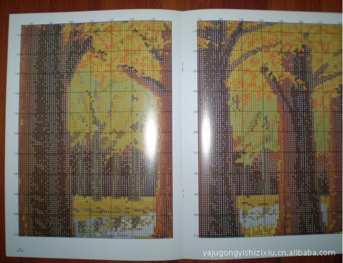 【航母直销十字绣套件厂家系列风景满地号辽宁纸模图纸黄金图片