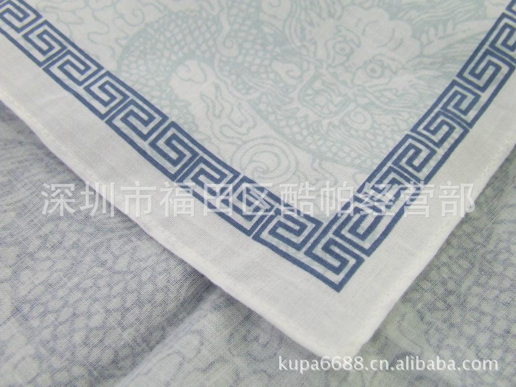 龙图腾手帕 飞龙在天利见大人 纯棉60支 活性印花 超软