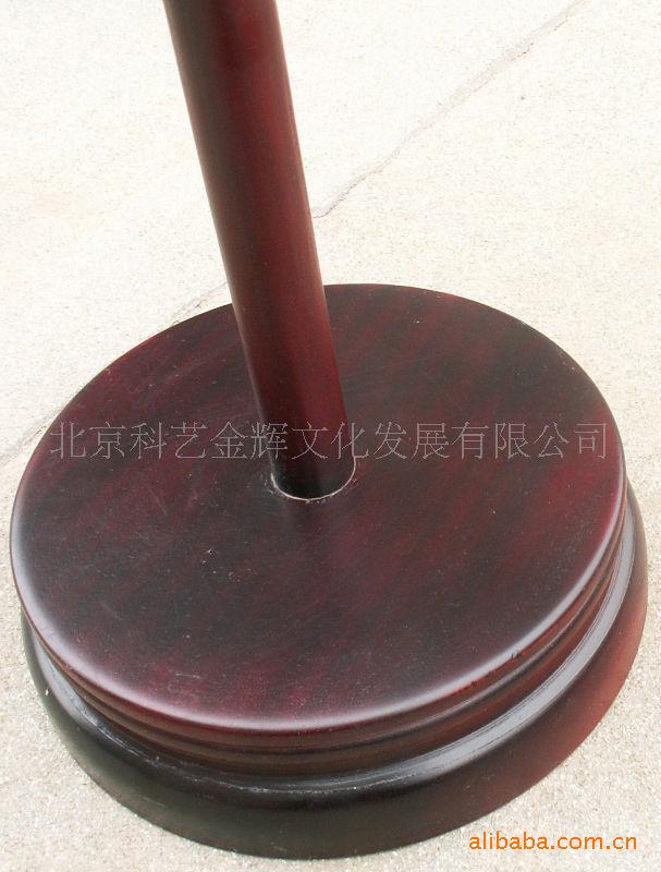 供应红木、仿红木旗杆底座 旗杆2.6米