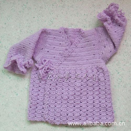 纯手工编织 春季宝宝毛衣 钩针毛衣 流行镂空小钩衣图片,纯手工编织