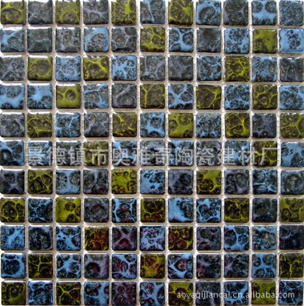 陶瓷马赛克 高温窑变花釉马赛克 瓷砖 25 25规格 混拼