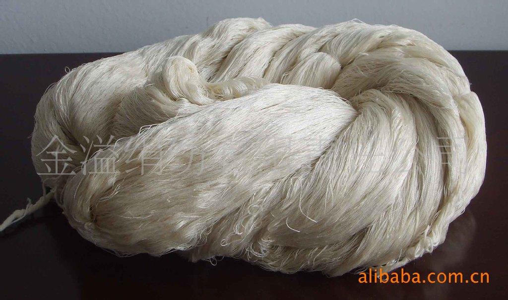 绢丝粘胶混纺纱 (60NM/2 70绢丝 30粘胶)绢粘纱
