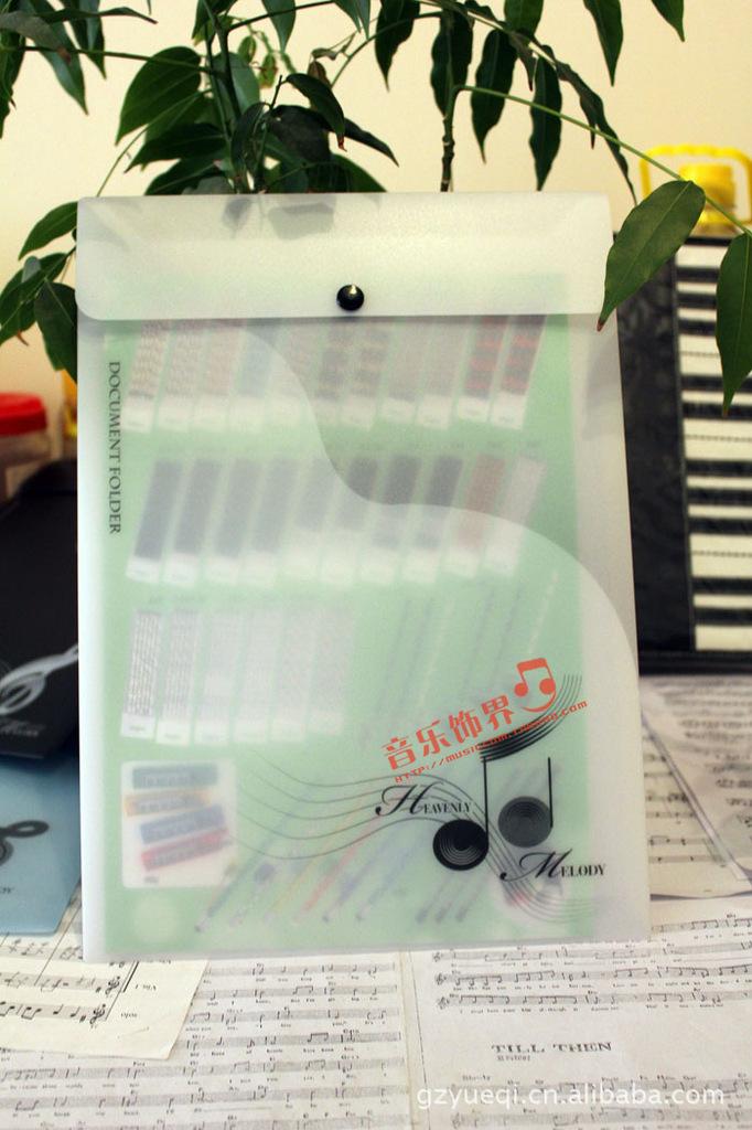 件袋 乐谱袋 高音谱号资料袋