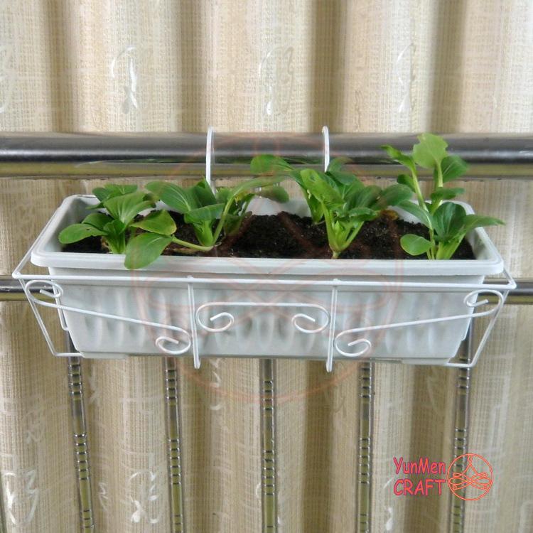 FG023C 促销大号铁艺栏杆悬挂花架 创意家居阳台种菜盆挂篮