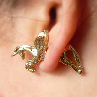 Серьги-гвоздики E164 fashion popular vintage punk unicorn dawlish piercing stud earring