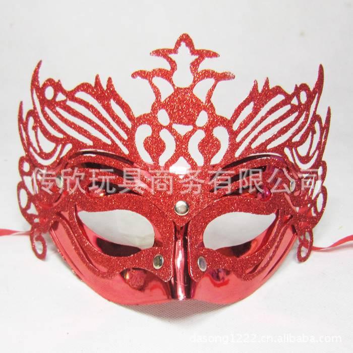 彩绘面具,威尼斯面具, 卡丹面具金粉皇冠面具 6色入 j4图片,彩绘