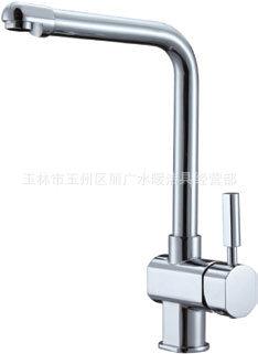 广东水龙头专业生产厂家开平粤河卫浴供应优质厨房水龙头H67006 -