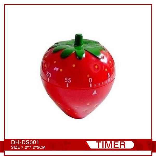 草莓廚房機械定時器、鬧鐘、60分鐘倒計時、廣告促銷禮品、