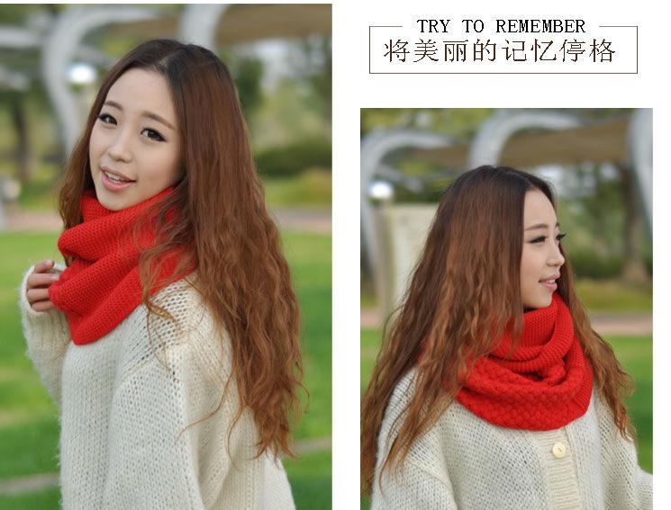 细毛线围巾的织法图解