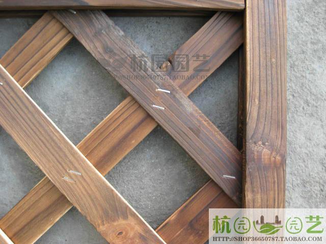 园艺用品 木栅栏 花架 木篱笆 围栏 网片 小弧度网格90 180 -价格
