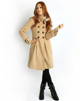 Женская одежда из шерсти retail High quality Women's Double-breasted Luxury Winter Wool Coat Jacket outerwear 2052