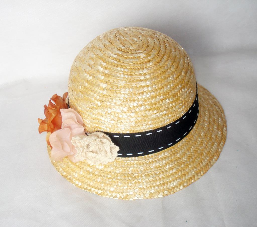 平顶草帽麦秆草帽