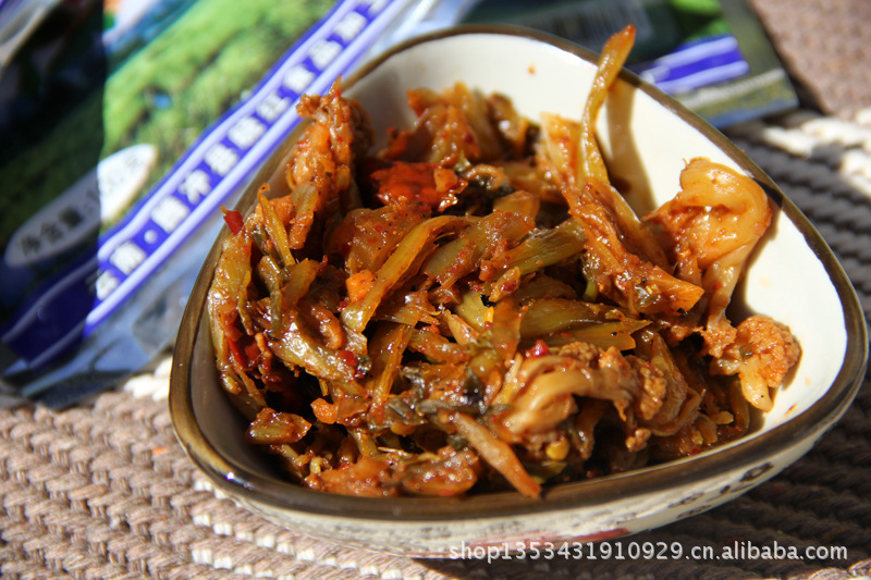 100g云南腾冲栗树园酸菜腌菜腾冲八宝香酸可吃黑芝麻一年图片