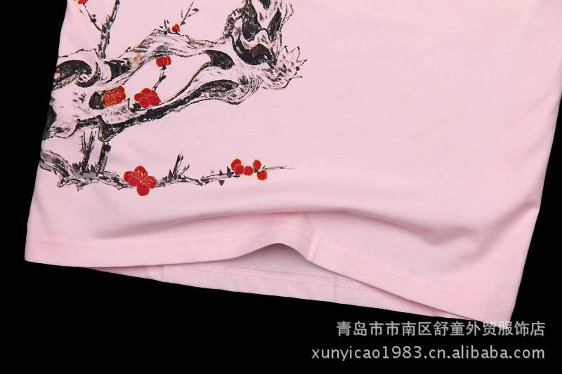 手绘中国风情侣装 纯棉男女式T恤 原创设计 希望图片,情侣装短袖批图片