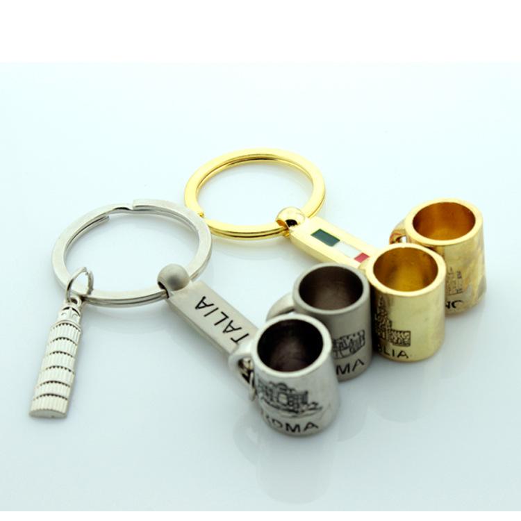 厂家直销意大利米兰创意金属杯子钥匙扣时尚旅游纪念品定制 - 义乌市丽丰工艺品 - 义乌市丽丰工艺品