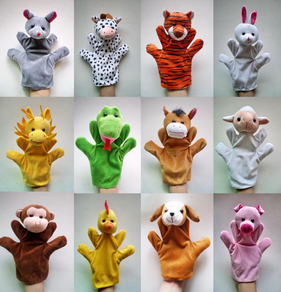 Купить 1Pcs Mixed Animal Finger Puppets Plush Cloth Doll Development Baby Hand Toy Kid с доставкой на русском ebay.com / Детские
