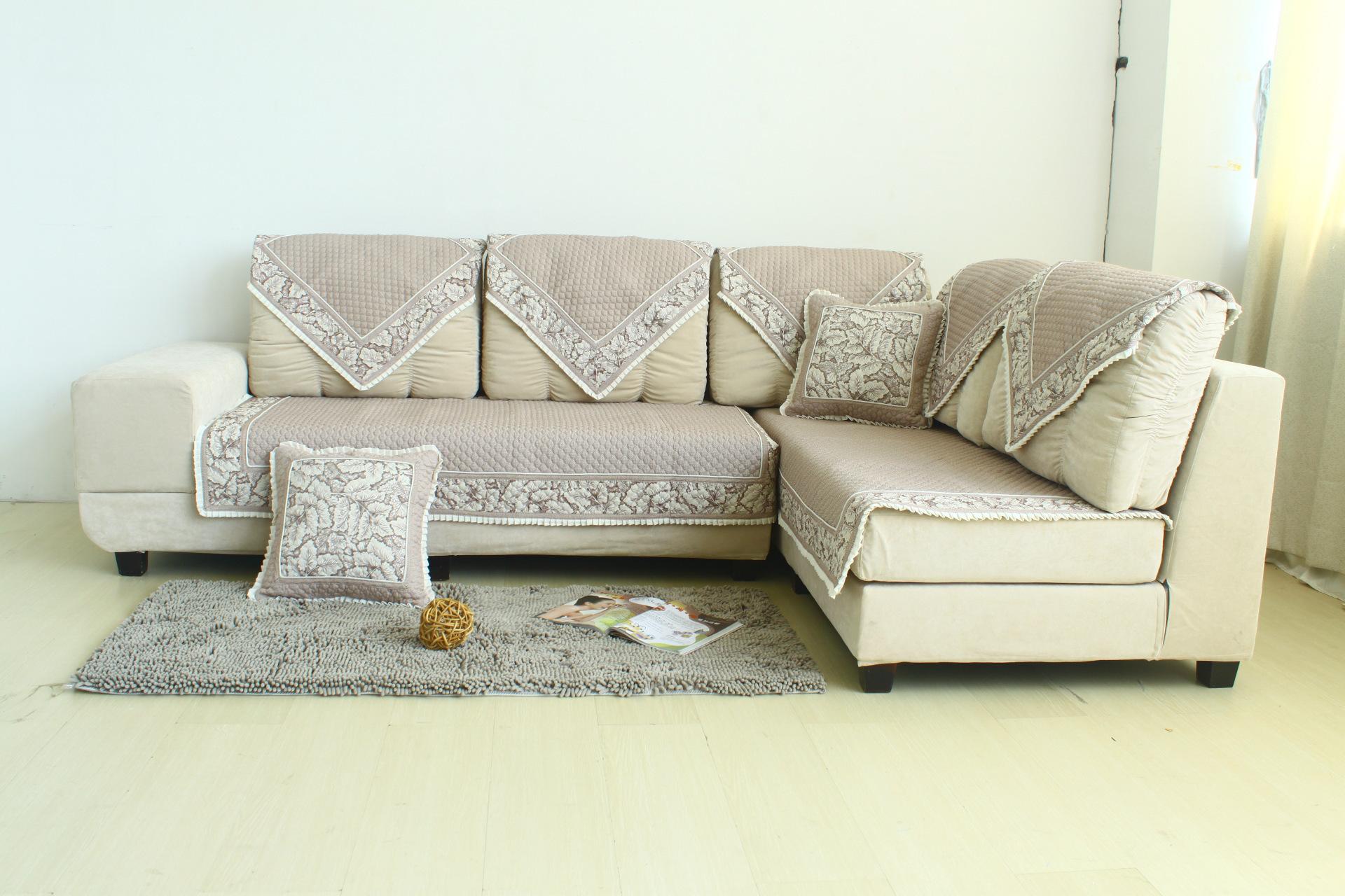 批发 高档亚麻沙发垫 蕾丝 花边 扶手沙发