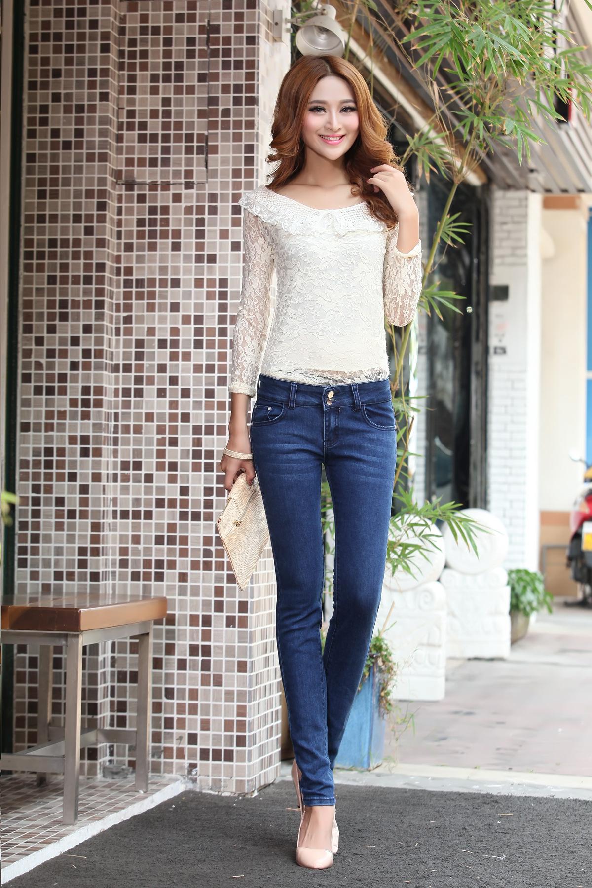 ... 美女牛仔裤热舞_... 牛仔裤女长裤韩国女士牛仔裤
