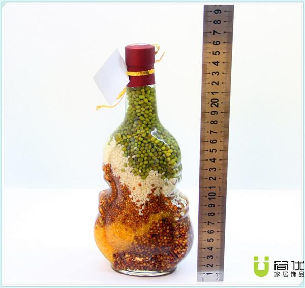 水摆件 葫芦型五谷杂粮瓶工艺品 店铺装饰品 -价格,厂家,图片,玻