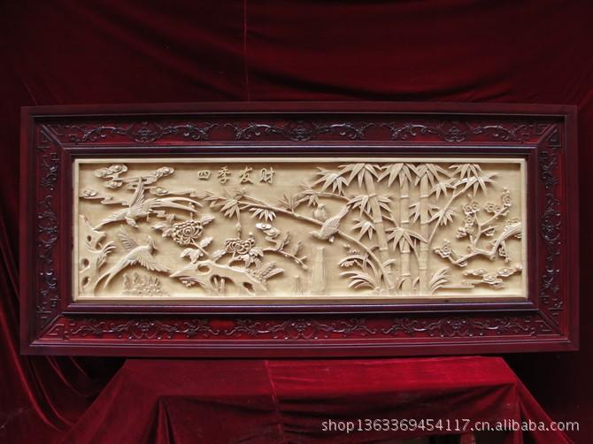 东阳木雕仿古木雕 落地罩屏风 挂落 等各种木质工艺
