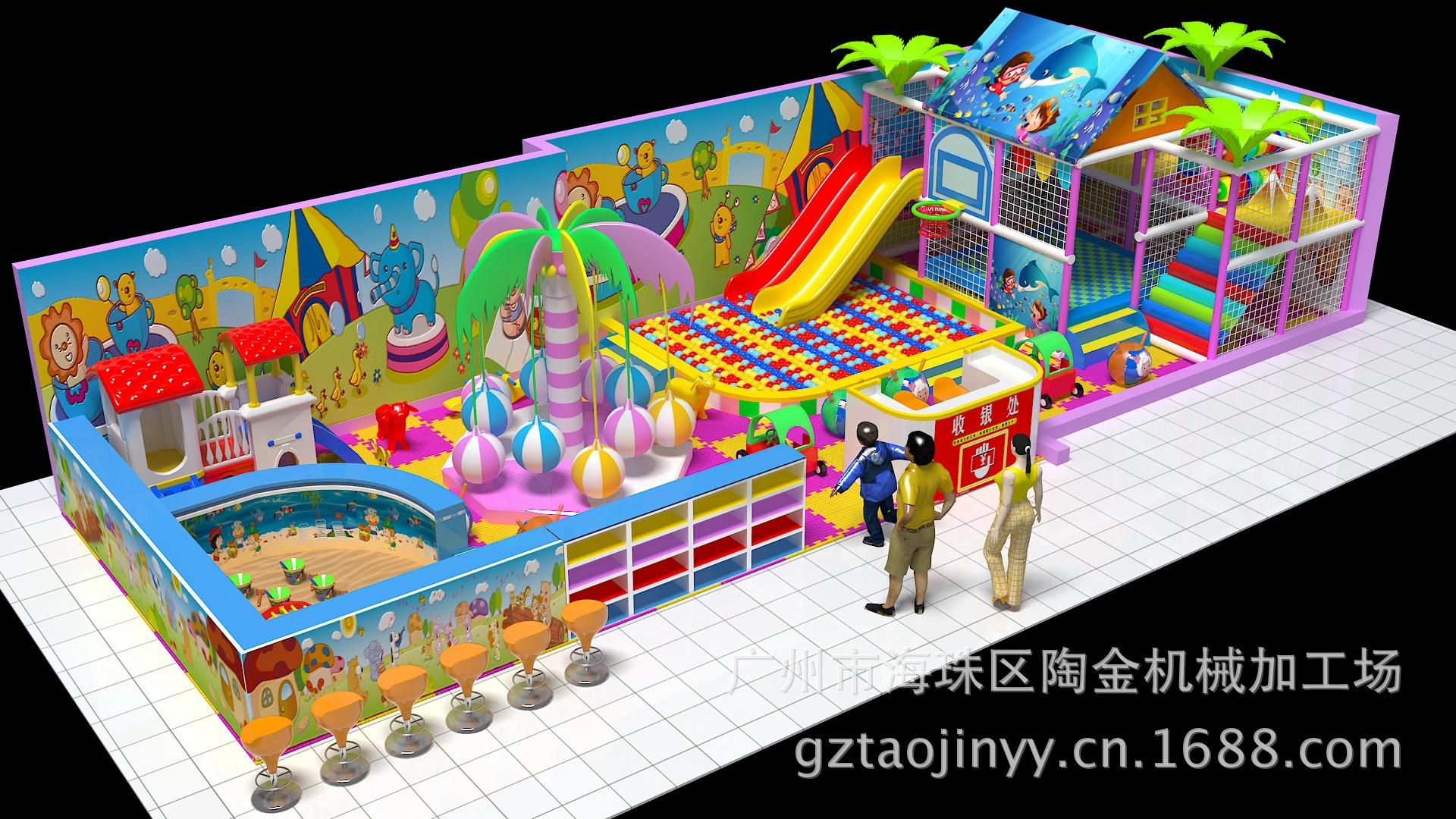 直销室内儿童游乐设施 电动淘气堡 游乐园设备 棉花屋 免费加盟