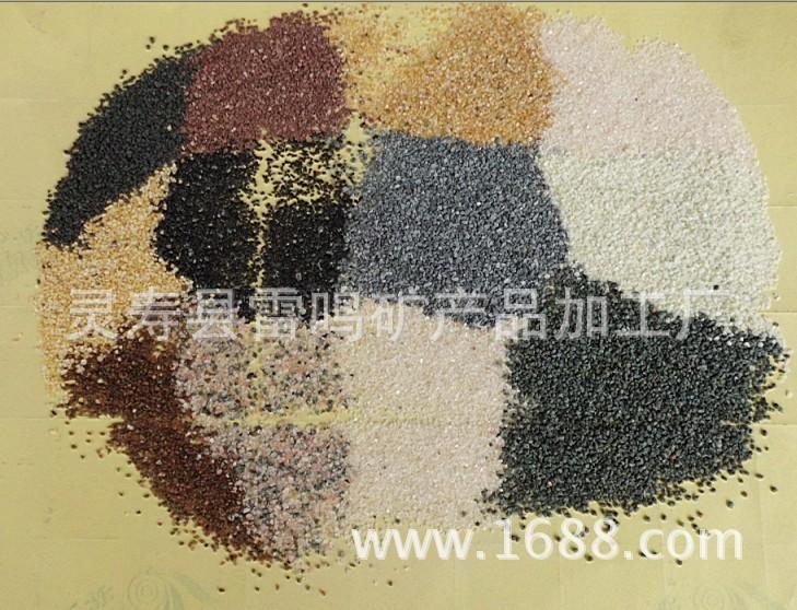 天然彩砂厂家_彩砂厂家供应天然彩砂砂80120目砂图片