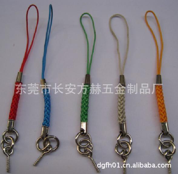 [厂家特价供应]龙虾扣手机绳 金丝线银丝线手机绳