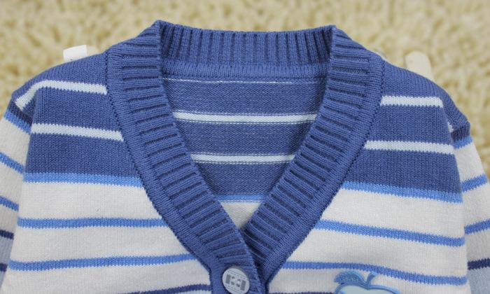 【新款春秋装婴儿毛衣儿童条纹毛衣开衫外套男