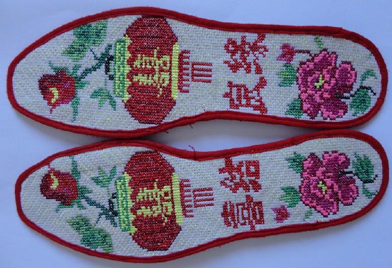 手工制作十字绣鞋垫 -价格,厂家,图片,其他鞋辅件,固原王经理图片