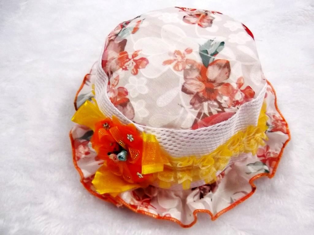 春夏款 儿童帽子 宝宝可爱公主帽 蕾丝花朵盆帽