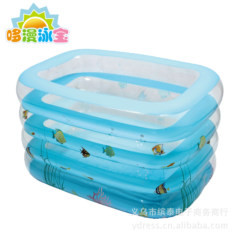 宝正品游泳池 婴儿洗澡池 宝宝游泳池 洗澡盆家庭超大透明 -价图片