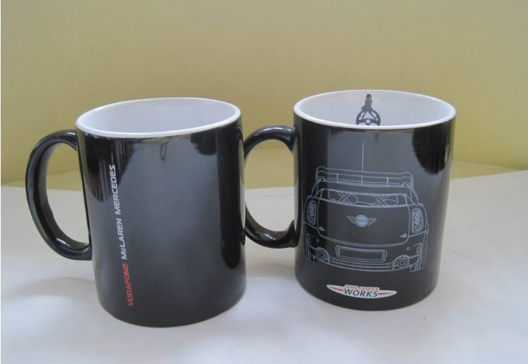 厂家供应热转印工艺广告杯 热转印陶瓷马克杯