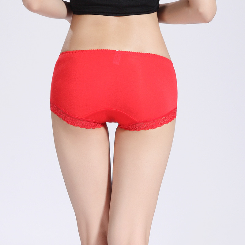 性感女士透明透气 高档竹纤维刺绣牡丹花三角内裤 85