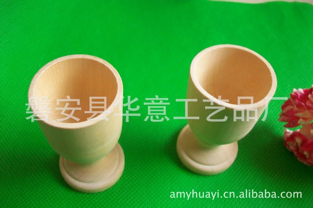鸡蛋杯,木酒杯,木制工艺品,