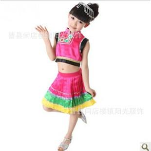 新款儿童舞蹈服装 女童民族舞蹈服