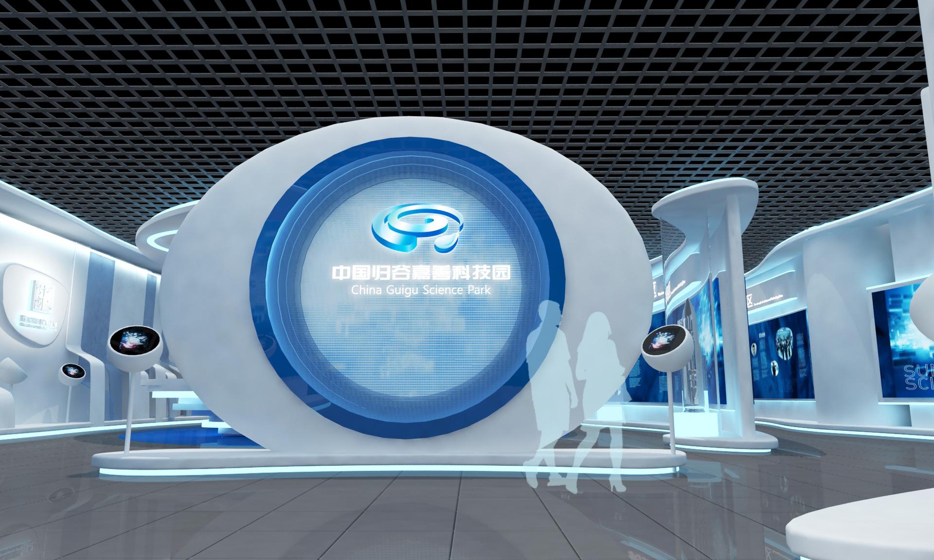 【嘉善归谷中国cad画法图的立面室内设计科技园展厅设计制作】图片