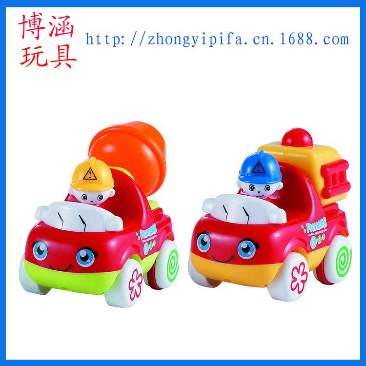 热卖卡通玩具工程车 消防车 挖土车 婴幼儿教具 小额混批 新奇特