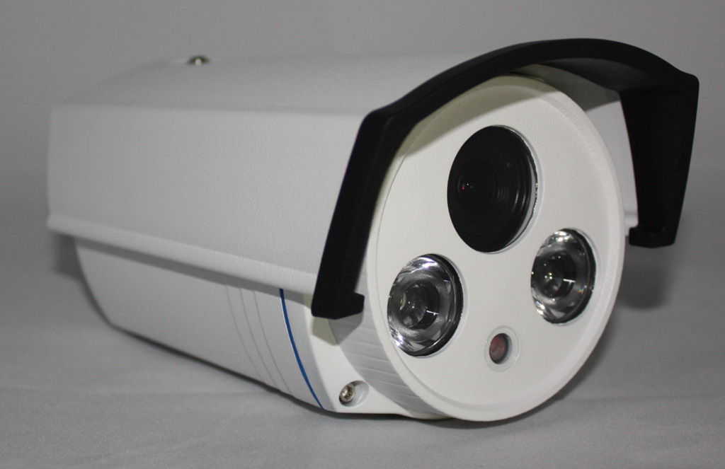 摄像机外壳 仿海康双灯阵列防水监控摄像机外壳 阿里巴巴图片