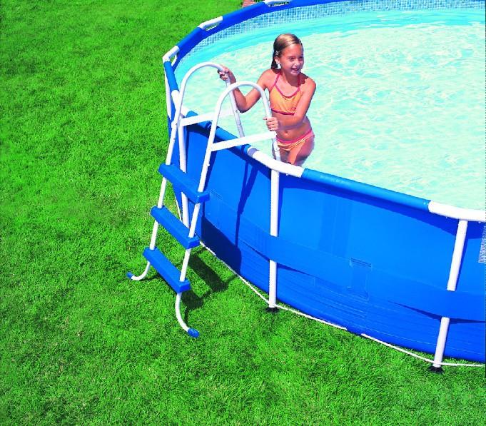 批发INTEX28232管架戏水池大型家庭支架游泳池