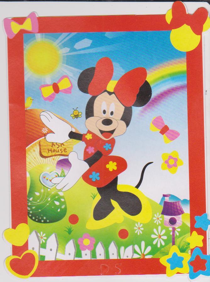 EVA儿童手工贴画 米奇款 创意益智玩具 图案混装 其他益智玩具尽