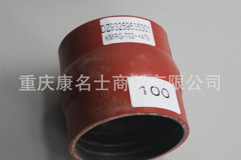 广东高压硅胶管KMRG-702++479-陕汽内氟外硅胶管DZ93259535301-内径100X100卖硅胶管,红色钢丝无凸缘1直管内径100XL105XH110X-1