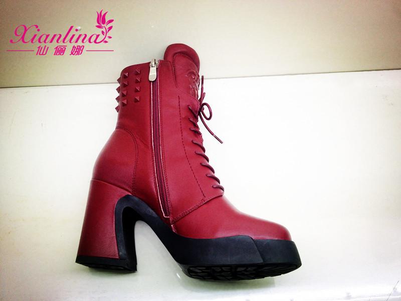 新款马丁靴 仙俪娜14新款马丁靴韩版时尚休闲粗跟女靴 阿里巴巴