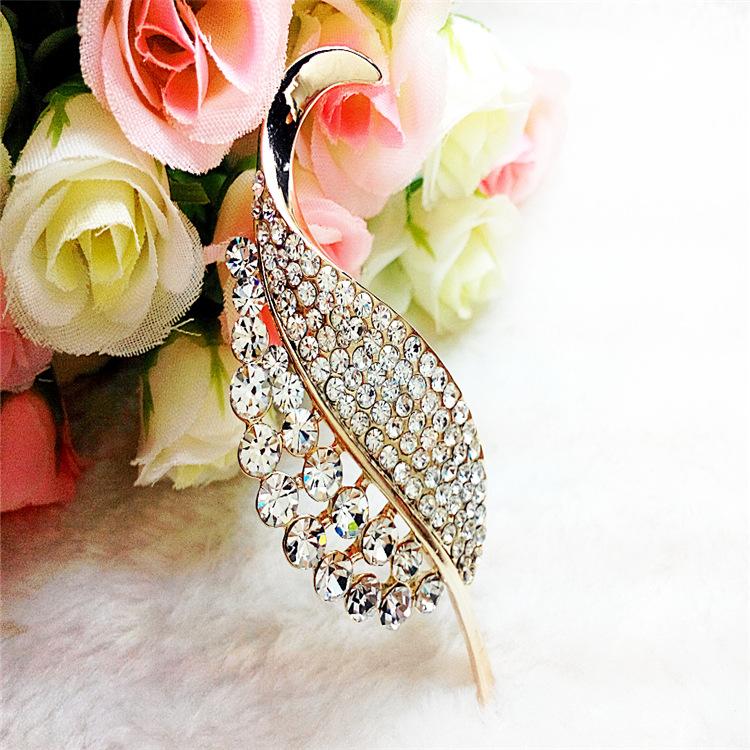 新款韩版厂家直销合金镶钻胸针 品质女士胸花 服装配饰