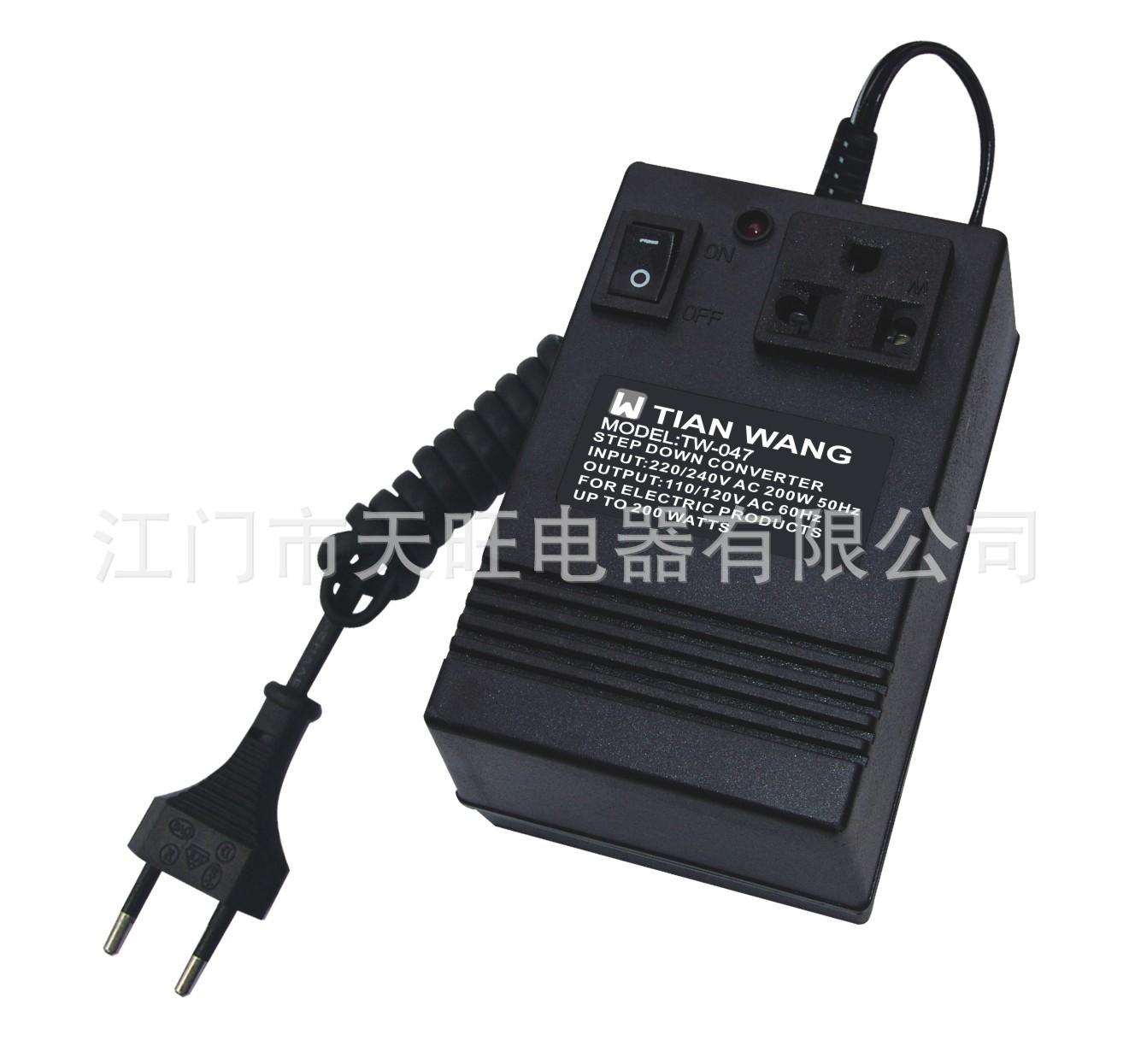 【天旺电器厂家直销】供应电源线插头按钮转换器开关电源