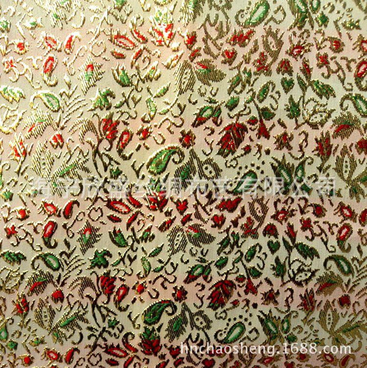 供应加工金银丝织锦缎,包装装饰提花面料、布料、提花布-XS-200