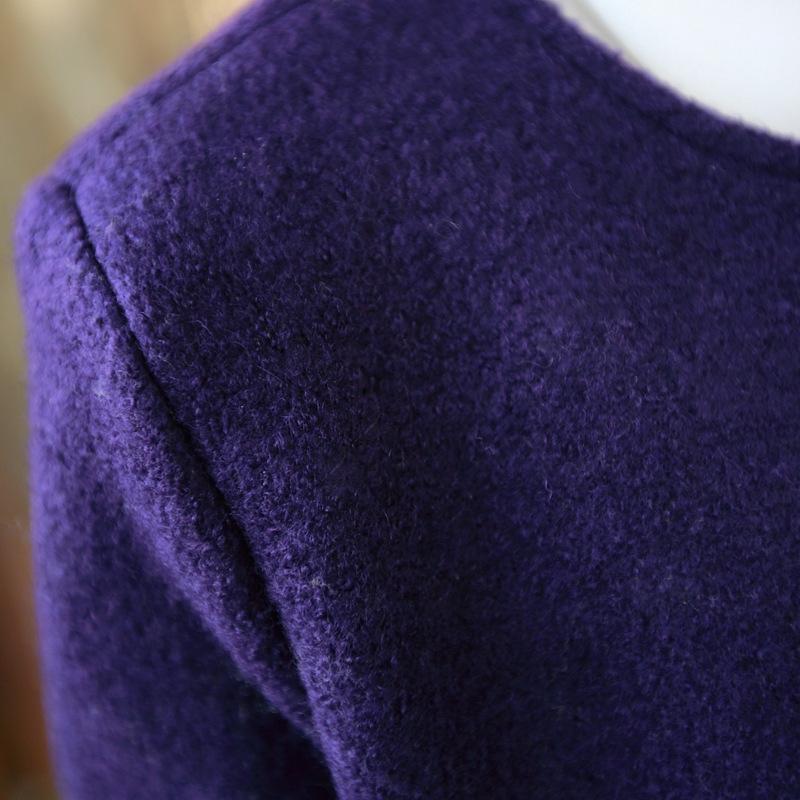 于momo秋冬韩版新款洋气修身裙摆毛呢大衣呢子外套001