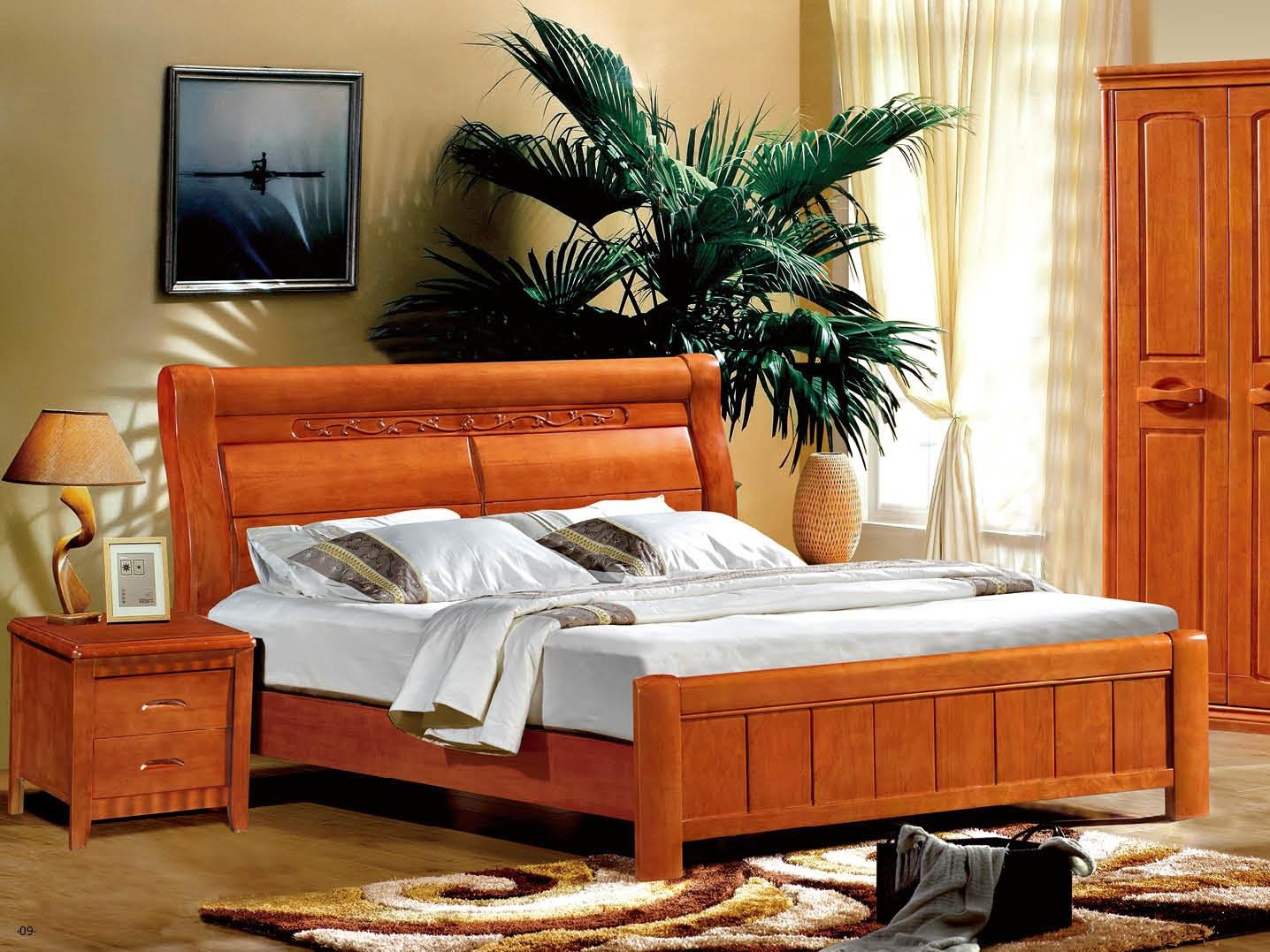 成套家具-南康橡木卧室家具3件套家具v家具一打套房效果图图片
